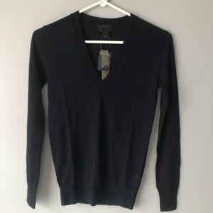 NWT J CREW 100% Italian Cashmere V-Neck Sweater
